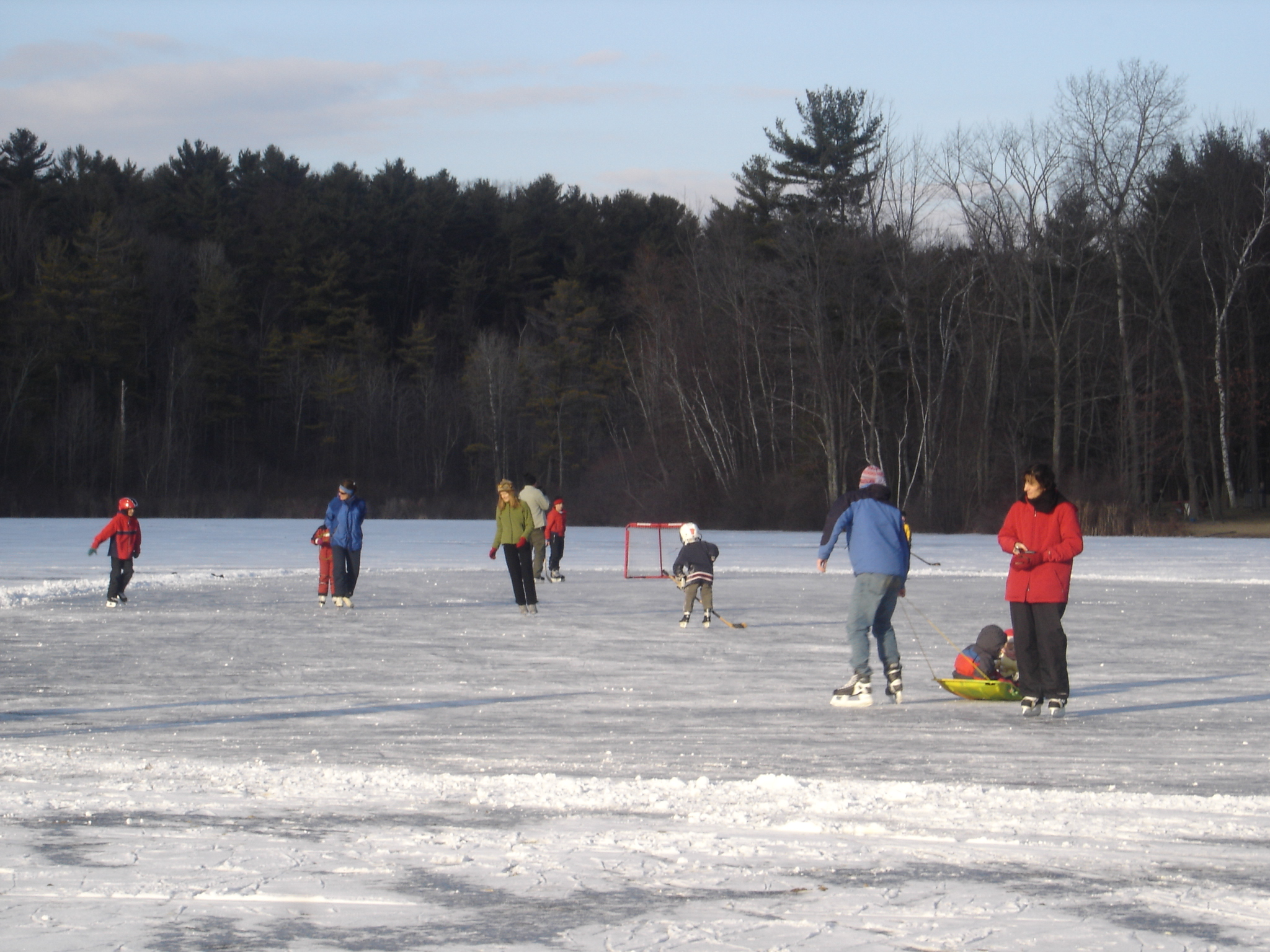 Winter activities are fun at Lake Mansfield in Great Barrington MA
