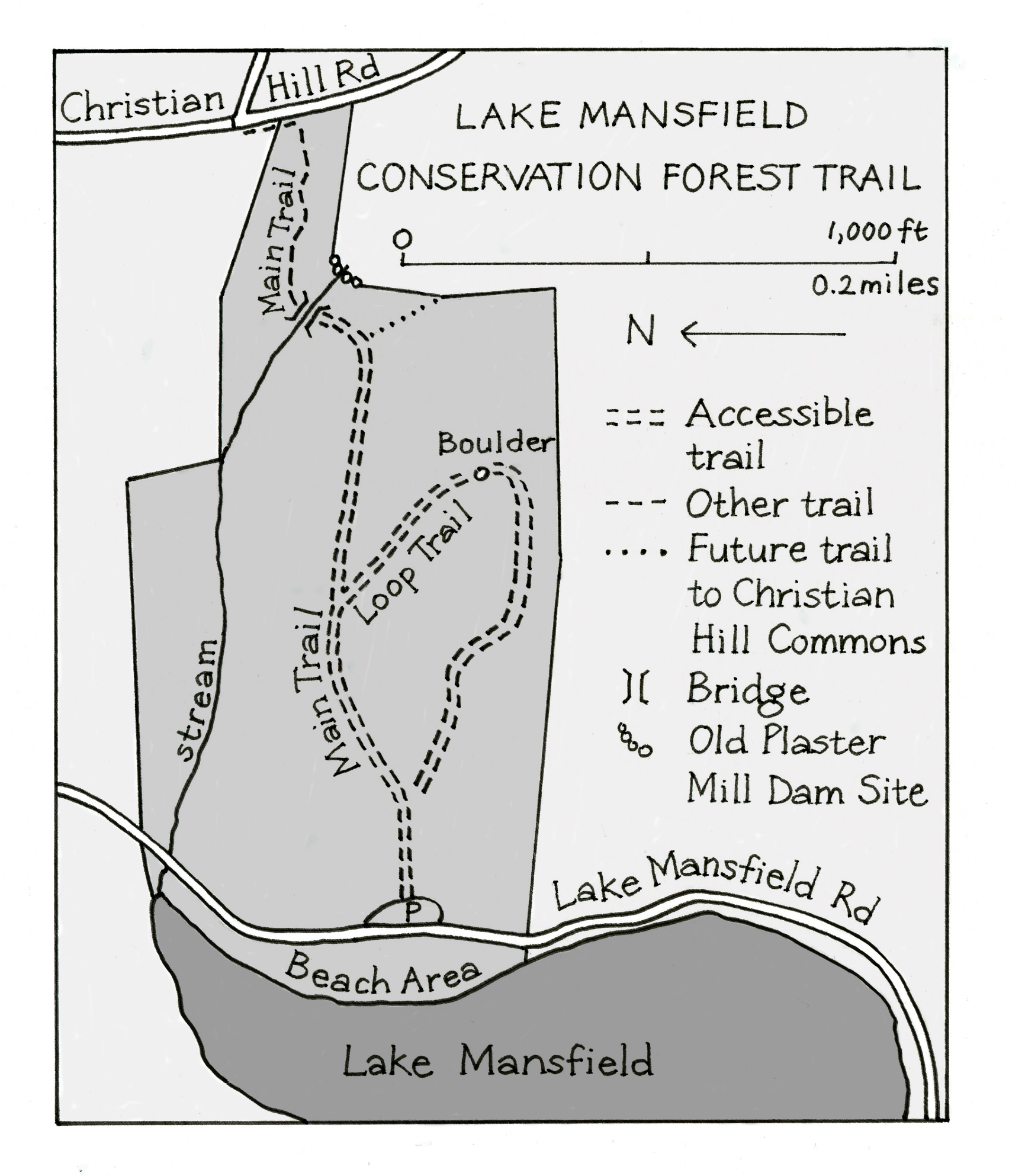 Lake Mansfield Map