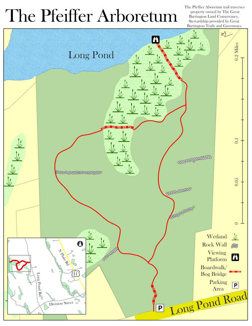 Pfeiffer Arboretum Trail Map