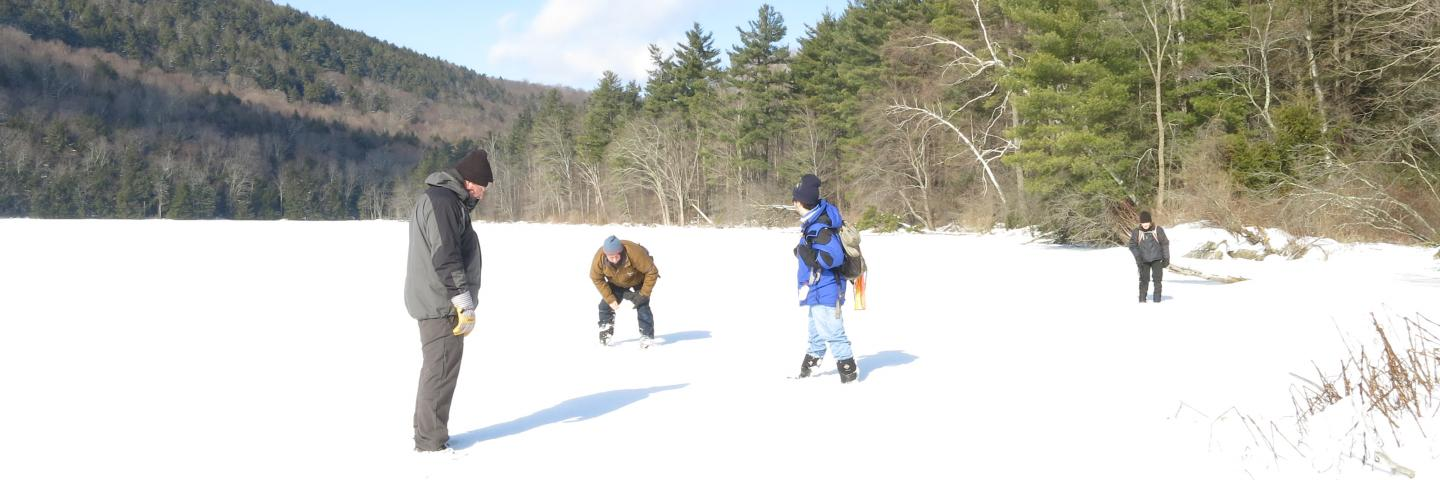 Winter at Lake Mansfeild in  Great Barrington