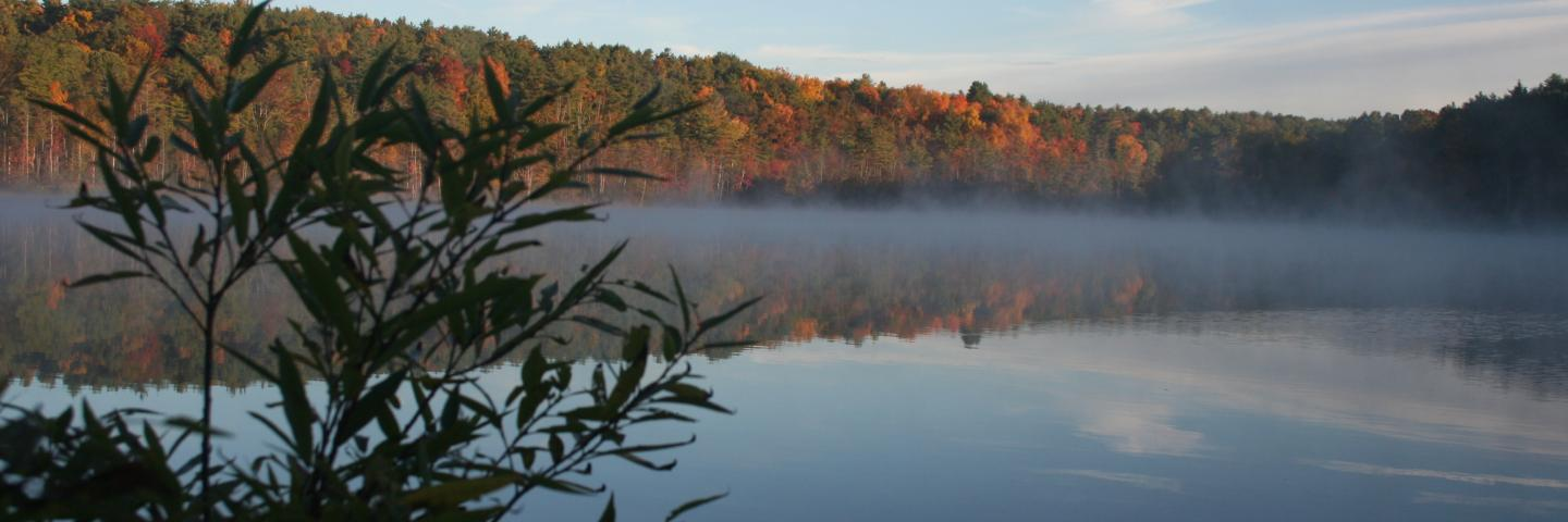 Autumn at Lake Mansfield in Great Barrington