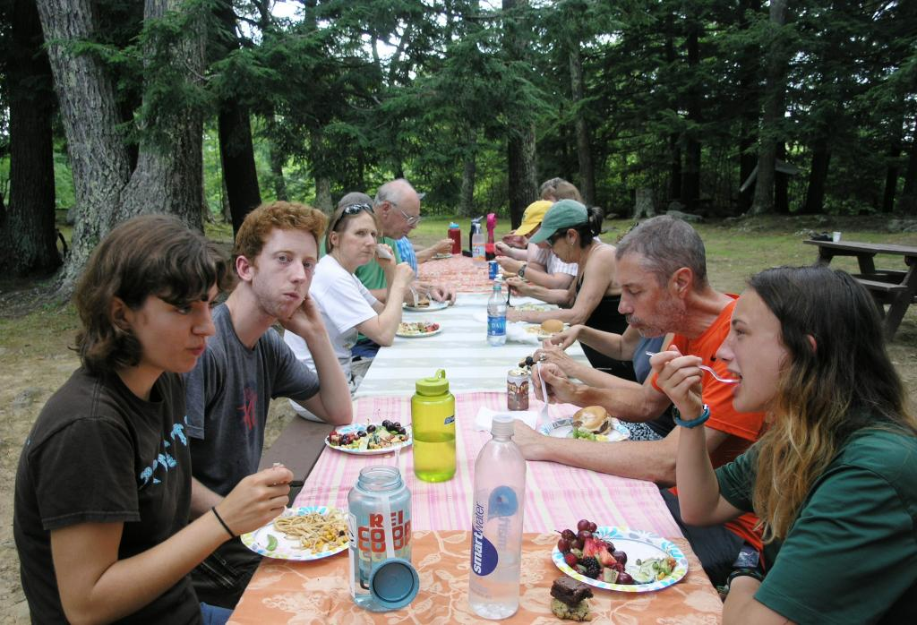 There was plent of food and through-hikers chowed down alongside volunteer A.T. Trail Maintainers and day hikers.