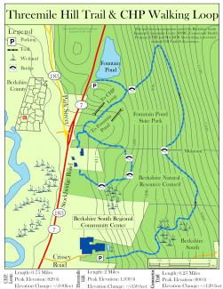 Threemile Hill Trail Map with CHP Connections