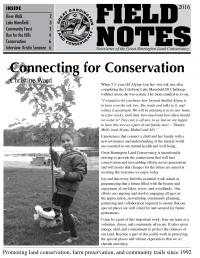 Great Barrington Land Conservancy Newsletter Cover - 2016
