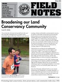 Great Barrington Land Conservancy Newsletter Cover - Dec 2016