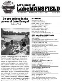 Lake Mansfield Newsletter Cover - 2011
