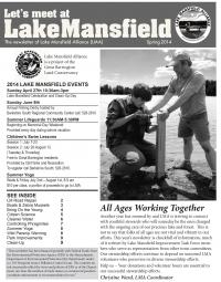Lake Mansfield Newsletter Cover - 2014