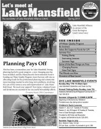 Lake Mansfield Newsletter Cover - 2015